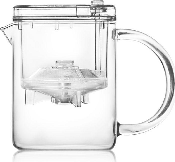 Чайник заварочный Hunan Provincial Модерн, стеклянный, с фильтр-пружинкой, 1 л15555Красивый и удобный чайник выполнен из жаропрочного стекла. Идеально подходит для заваривания любых видов чая, в том числе для связанных и травянных. Объем 1000 мл.