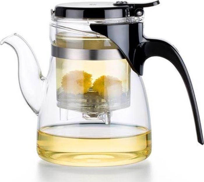 """Заварочный чайник """"Samadoyo"""" - профессиональный инструмент для того, чтобы заварить ваш любимый чай. Уникальный механизм слива чайного настоя позволяет вам получить напиток любой степени крепости. Чайник можно не только комфортно использовать на работе или в офисе, но и взять с собой в путешествие, чтобы ваш любимый чай был всегда с вами! Чайник выполнен из высококачественного боросиликатного стекла и выдерживает температуру до 180°С. Заварочная колба выполнена из качественного пищевого пластика, имеет металлический фильтр, предотвращающий попадание чаинок в настой, а специальный запатентованный клапан сливает все без остатка в чайник. ."""