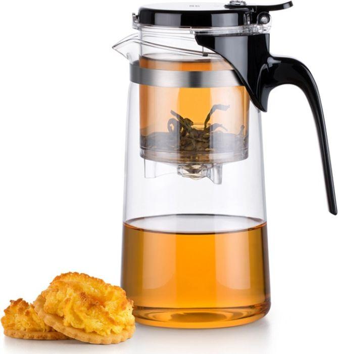 Чайник заварочный Samadoyo SAG-10, 750 мл630029Заварочный чайник Samadoyo - профессиональный инструмент для того, чтобы заварить ваш любимый чай. Уникальный механизм слива чайного настоя позволяет вам получить напиток любой степени крепости. Чайник можно не только комфортно использовать на работе или в офисе, но и взять с собой в путешествие, чтобы ваш любимый чай был всегда с вами! Чайник выполнен из высококачественного боросиликатного стекла и выдерживает температуру до 180°С. Заварочная колба выполнена из качественного пищевого пластика, имеет металлический фильтр, предотвращающий попадание чаинок в настой, а специальный запатентованный клапан сливает все без остатка в чайник. .