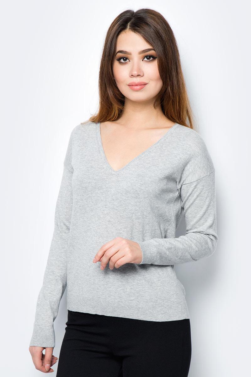 Пуловер женский United Colors of Benetton, цвет: серый. 12EAD4324_501. Размер M (44/46) пуловер united colors of benetton united colors of benetton un012ewabyz6