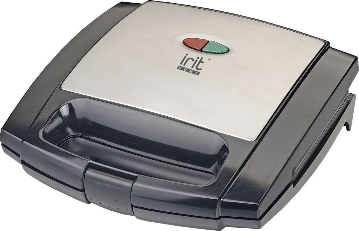 Irit IR-5117, Black Silver бутербродницаIR-5117Мощность: 750 Вт.Рабочее напряжение: 220-240В/50Гц.Антипригарное покрытие.Световые индикаторы работы: индикатор нагрева (красный), индикатор готовности (зеленый). Ненагревающиеся ручки.Пластина для сэндвичей.