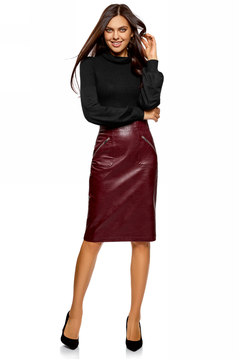 Свитер женский oodji Ultra, цвет: черный. 64412198/24514/2900N. Размер XL (50)64412198/24514/2900N