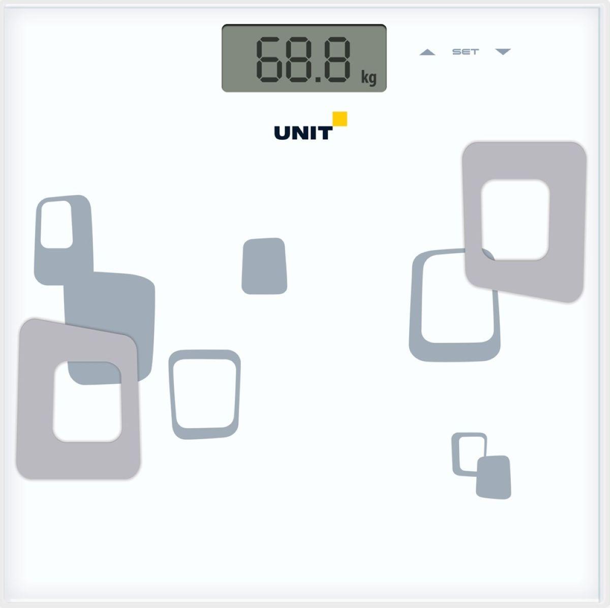 Unit UBS-2220, White напольные весы511219Напольные электронные весы Unit UBS-2220 - неотъемлемый атрибут здорового образа жизни. Они необходимы тем, кто следит за своим здоровьем, весом, ведет активный образ жизни, занимается спортом и фитнесом. Очень удобны для будущих мам, постоянно контролирующих прибавку в весе, также рекомендуются родителям, внимательно следящим за весом своих детей.