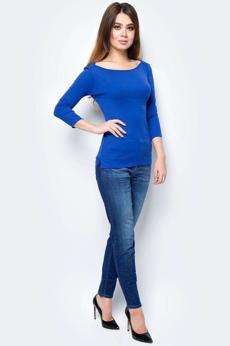 Майка жен United Colors of Benetton, цвет: синий. 3GA2E1G25_366. Размер M (44/46)3GA2E1G25_366