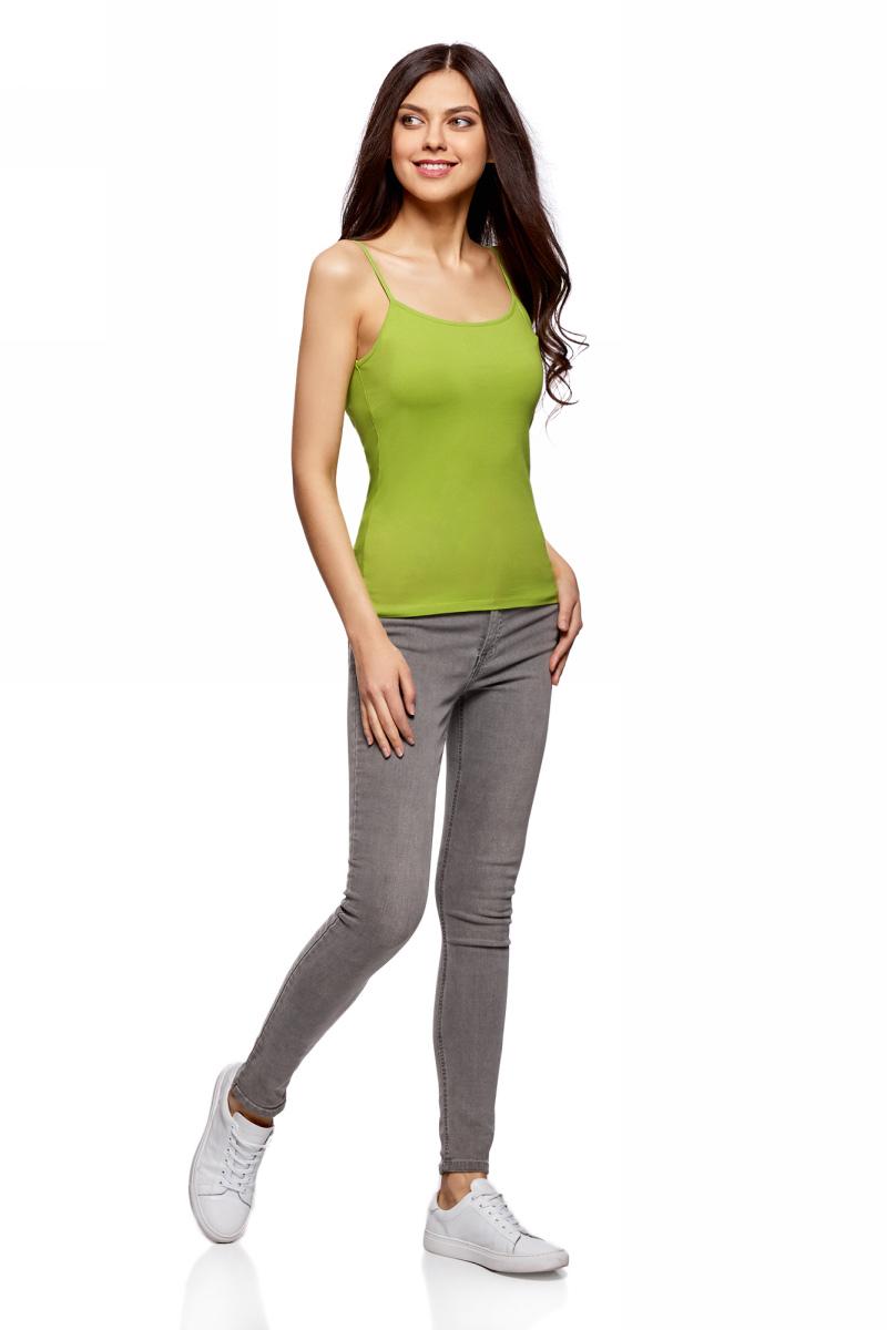 Топ женский oodji Ultra, цвет: зеленый, 2 шт. 14305023T2/46147/6B00N. Размер XXS (40)14305023T2/46147/6B00NЖенский топ oodji изготовлен из высококачественного материала. Модель выполнена с тонкими бретельками. В комплекте 2 топа.