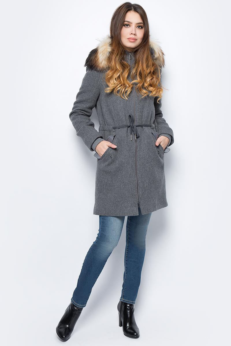 Пальто женское United Colors of Benetton, цвет: серый. 2WP4533W3_907. Размер 44 (46)2WP4533W3_907Пальто женское United Colors of Benetton выполнено из качественного материала. Модель с длинными рукавами застегивается на молнию.