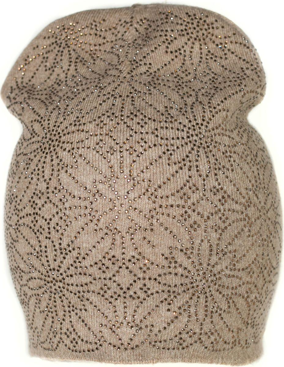 Шапка женская Mitya Veselkov, цвет: коричневый. SH2010-2-3. Размер универсальный - Зимняя рыбалка