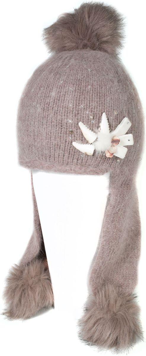 Шапка женская Mitya Veselkov, цвет: коричневый. SH2010-4. Размер универсальныйSH2010-4Качественная, яркая шапка. Согреет Вас зимой и станет заметным элементом Вашего стиля.