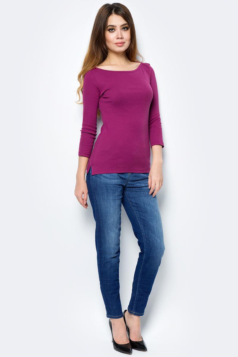 Майка жен United Colors of Benetton, цвет: свекольный. 3GA2E1G25_15L. Размер S (42/44)3GA2E1G25_15L