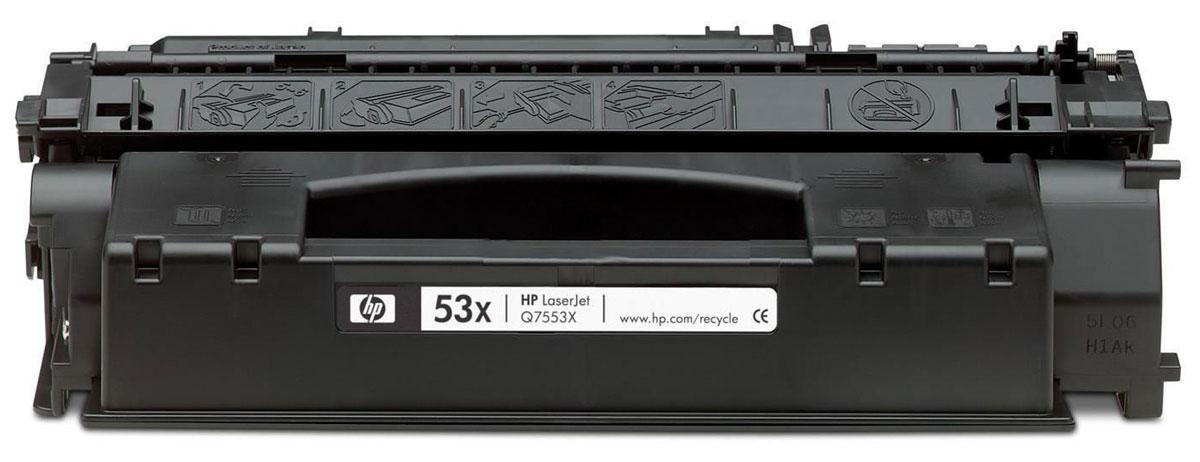 HP Q7553X, Black картридж тонер картридж для принтера nv print hp q5949x q7553x black