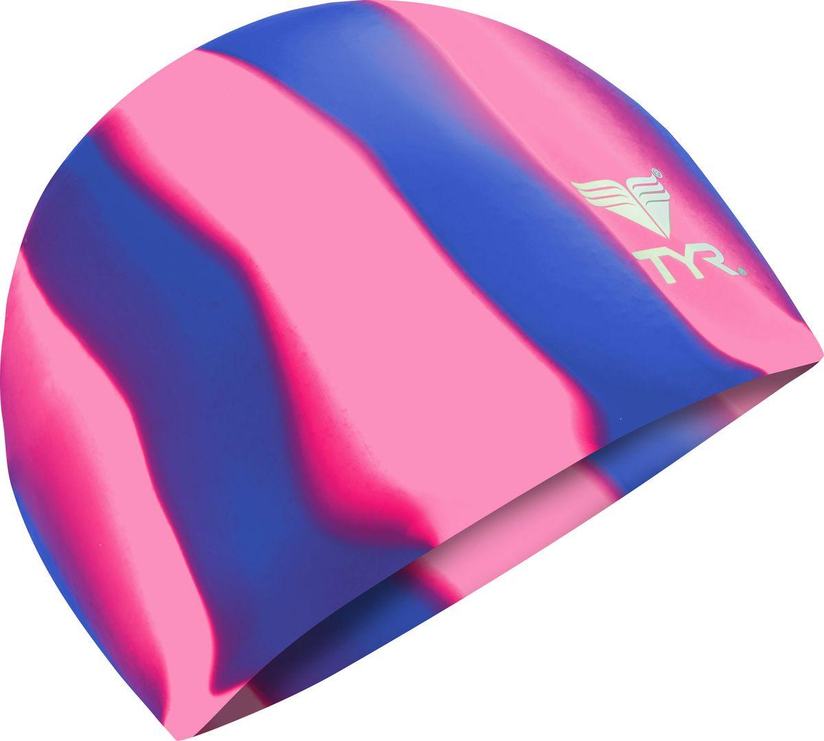 Шапочка для плавания Tyr Multi Silicone Cap, цвет: фиолетовый, розовый. LCSMLCSMРазноцветная силиконовая шапочка TYR – изготовлена из высококачественного материала устойчивого к воздействию хлорированной воды, что гарантирует долгий срок службы. Материал шапочки не вызывает раздражения кожи и других аллергических реакций. Прекрасный вариант для тренировок в бассейне.