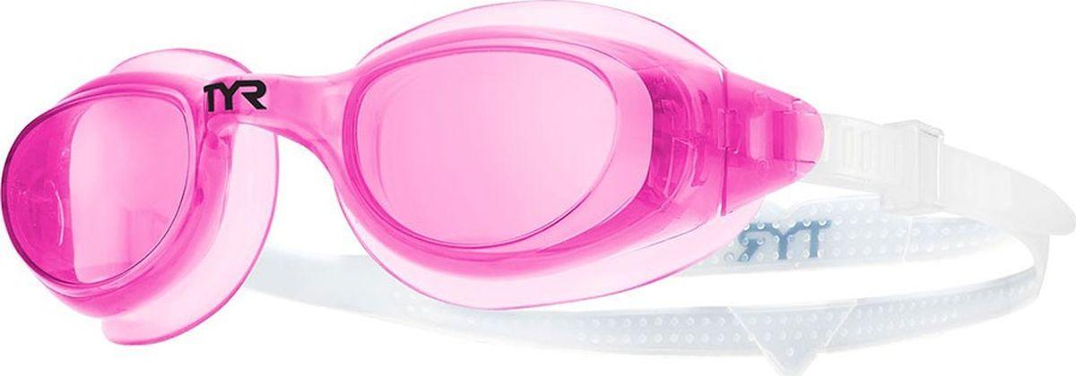 Очки для плавания Tyr Technoflex 4.0, цвет: розовый. LGX4LGX4Очки Tyr Technoflex 4.0 подходят для тренировок и отдыха. Благодаря мягкой, герметичной силиконовой прокладке очки обеспечивают безопасную и удобную посадку, независимо от того сколько времени вы находитесь в воде. Усиленные поликарбонатные линзы обработаны раствором антифог и обеспечивают прекрасный вид под водой, защищают глаза от воздействия ультрафиолетовых лучей. Двойной силиконовый ремешок дает возможность максимально удобно настроить очки. Литая переносица автоматически подстроится под индивидуальные параметры лица.