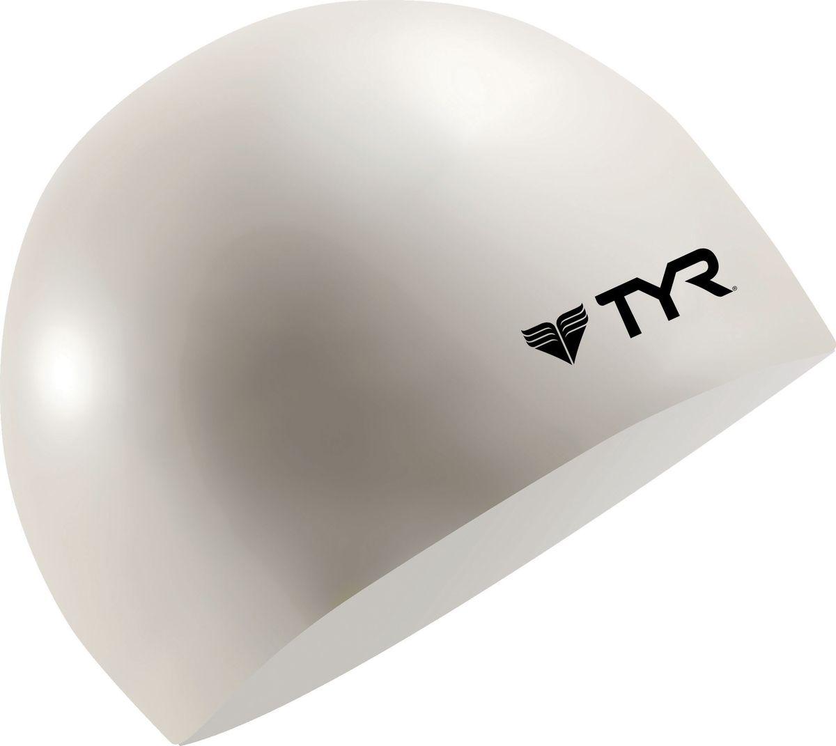 Шапочка плавательная Tyr Wrinkle Free Junior Silicone Cap, цвет: белый. LCSJRLCSJRДетская силиконовая шапочка TYR Wrinkle Free – изготовлена из высококачественного материала устойчивого к воздействию хлорированной воды, что гарантирует долгий срок службы. Материал шапочки не вызывает раздражения кожи и других аллергических реакций. Прекрасный вариант для тренировок в бассейне.