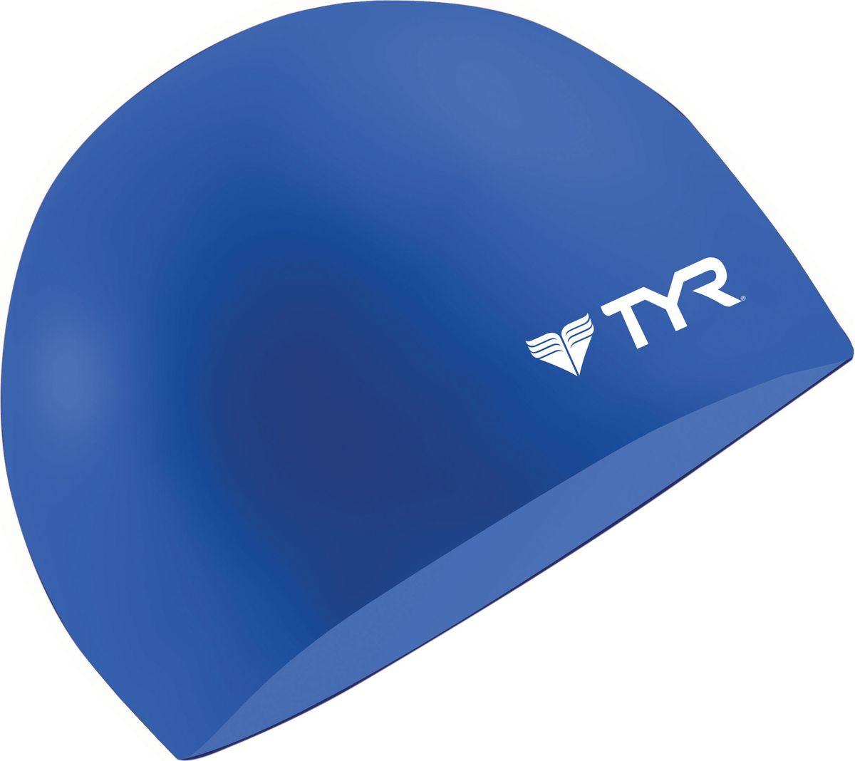 Шапочка для плавания Tyr Wrinkle Free Silicone Cap, цвет: синий. LCSLCSСиликоновая шапочка TYR Wrinkle Free – изготовлена из высококачественного материала устойчивого к воздействию хлорированной воды, что гарантирует долгий срок службы. Материал шапочки не вызывает раздражения кожи и других аллергических реакций. Прекрасный вариант для тренировок в бассейне.