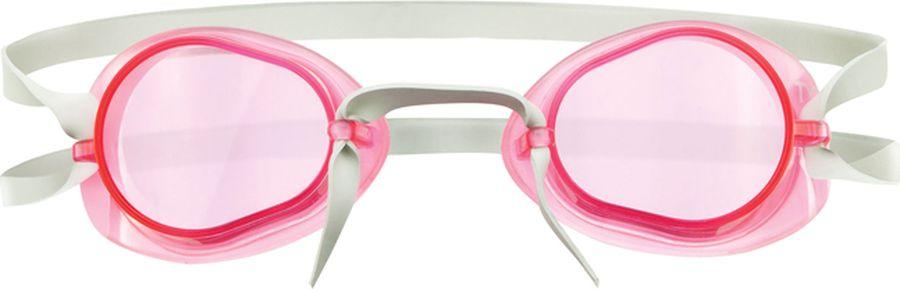 Очки для плавания Tyr Socket Rockets 2.0, цвет: светло-розовый. LGL2LGL2Стартовые очки для плавания Tyr Socket Rockets 2.0 без уплотнителя, но с силиконовой окантовкой. Оптические линзы из поликарбоната. Широкий угол обзора позволяет не терять ориентацию в воде. Силиконовая окантовка снижает давление жестких линз на глаза, что особенно удобно для профессиональных спортсменов с чувствительной кожей вокруг глаз. Очки укомплектованы с мягкой переносицей в виде жгута, которая легко и просто регулируется одним движением, также в комплект входит дополнительная трубчатая переносица с веревкой.