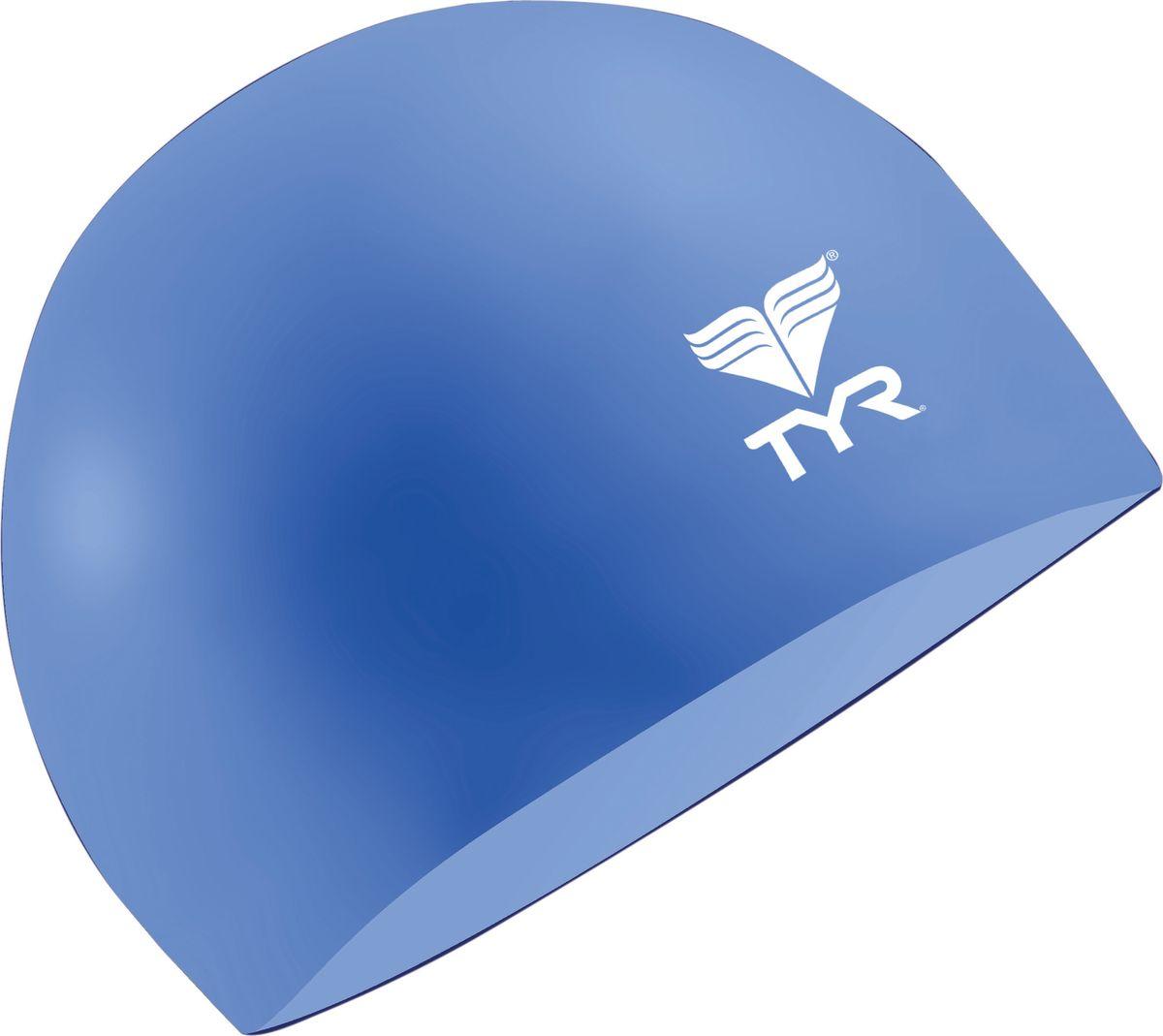 Шапочка для плавания Tyr Latex Swim Cap, цвет: голубой. LCLLCLШапочка TYR Latex - изготовлена из высококачественного латекса. Прочный, мягкий материал приятный на ощупь. Очень удобная модель для посещения тренировок в бассейне. Благодаря своей эластичности не давит на голову.
