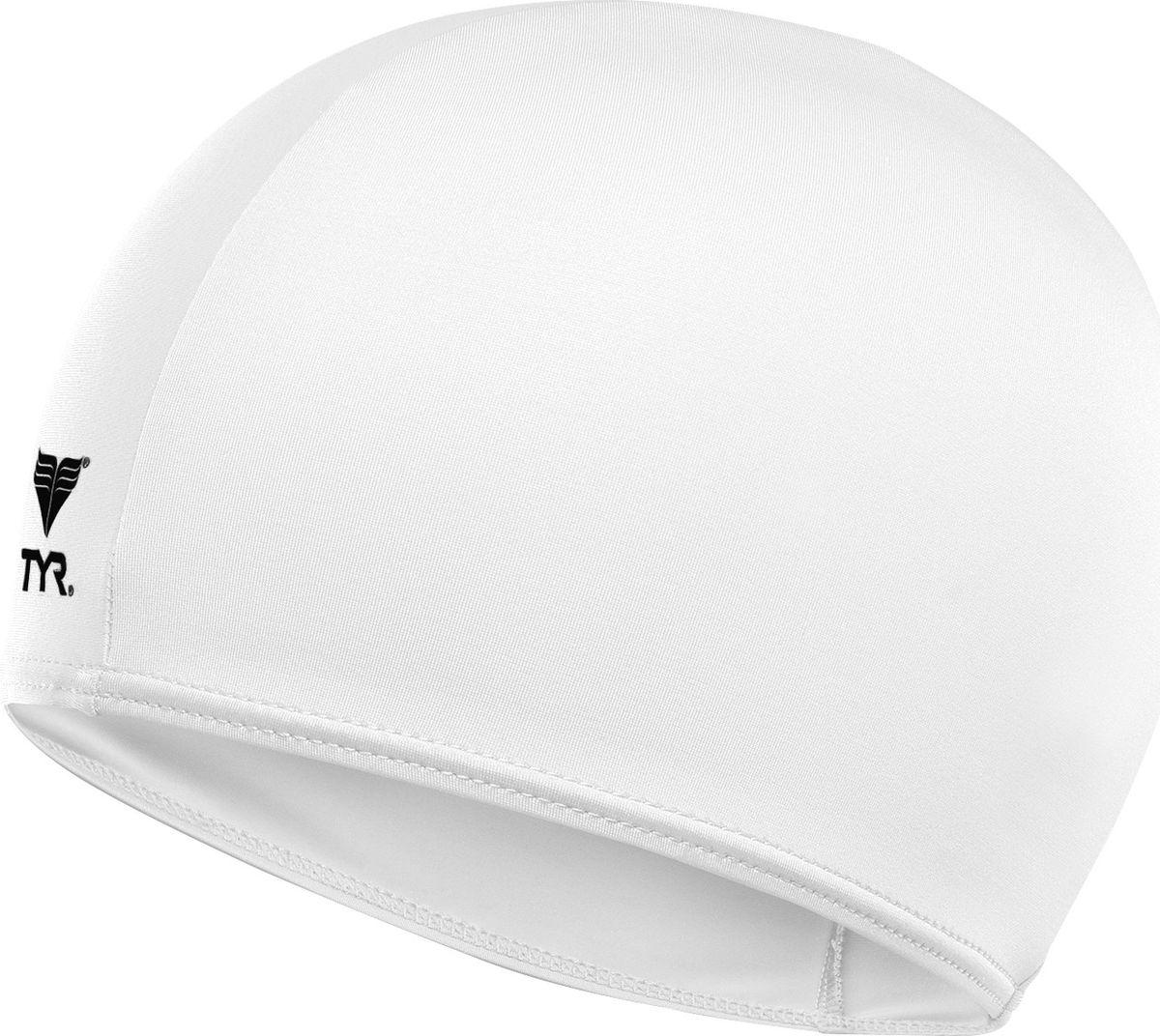 Шапочка для плавания TYR Solid Lycra Cap, цвет: белый. LCY шапочка для плавания tyr tyr ty003dujzb79