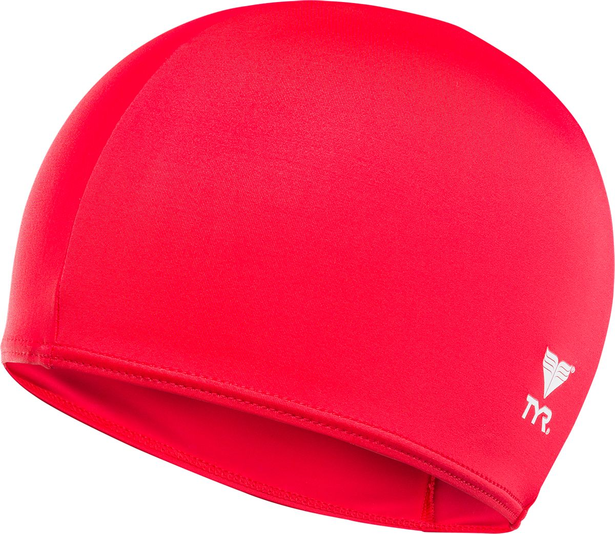 Шапочка для плавания TYR Solid Lycra Cap, цвет: красный. LCY шапочка для плавания tyr tyr ty003duxit11