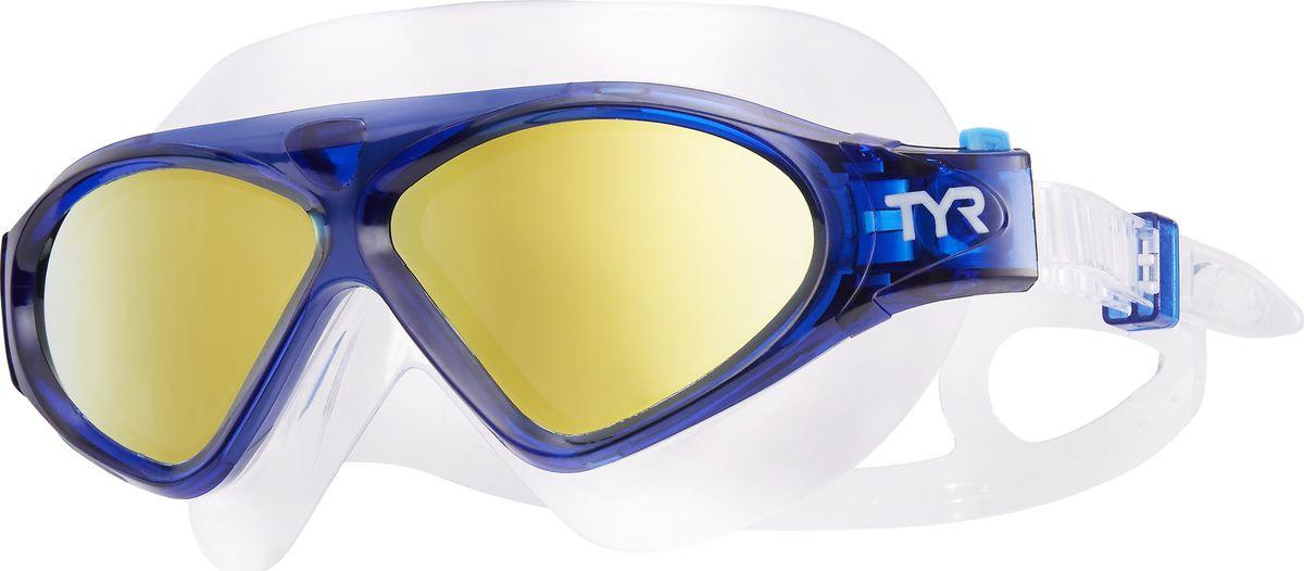 Маска для плавания Tyr Magna Swim Mask Polarized, цвет: золотой, синий. LGMSMPLGMSMPМаска TYR Magna Swim Mask с поляризационными линзами отлично подойдет как для занятий спортом и отдыхом на открытой воде, так и для тренировок в бассейне. Широкие поляризационные линзы защитят вас от ультрафиолетовых лучей и обеспечат ясность, оптическую точность и комфорт, отфильтровывая 99.9% от бликов с поверхности воды, которые приводят к усталости глаз. Уплотнитель и ремешок изготовленные из силикона, обеспечивают комфортную и удобную посадку маски. Легкая настройка маски позволит подобрать нужный вам размер.