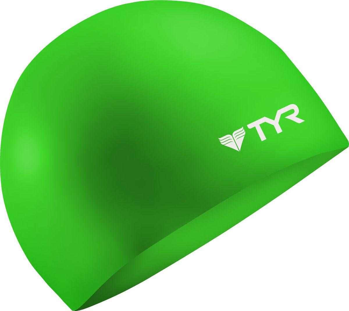 Шапочка для плавания Tyr Wrinkle Free Silicone Cap, цвет: зеленый. LCS шапочка для плавания tyr sdoc