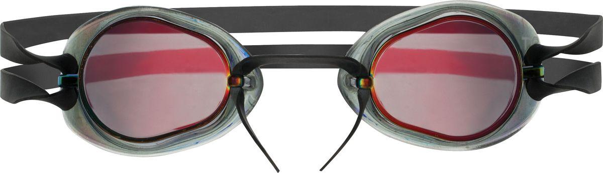 Очки для плавания Tyr Socket Rockets 2.0 Mirrored, цвет: красный, серебристый. LGL2MLGL2MСтартовые очки для плавания TYR Socket Rockets 2.0 с зеркальными линзами без уплотнителя, но с силиконовой окантовкой. Оптические линзы из поликарбоната. Широкий угол обзора позволяет не терять ориентацию в воде. Силиконовая окантовка снижает давление жестких линз на глаза, что особенно удобно для профессиональных спортсменов с чувствительной кожей вокруг глаз. Очки укомплектованы с мягкой переносицей в виде жгута, которая легко и просто регулируется одним движением, также в комплект входит дополнительная трубчатая переносица с веревкой.