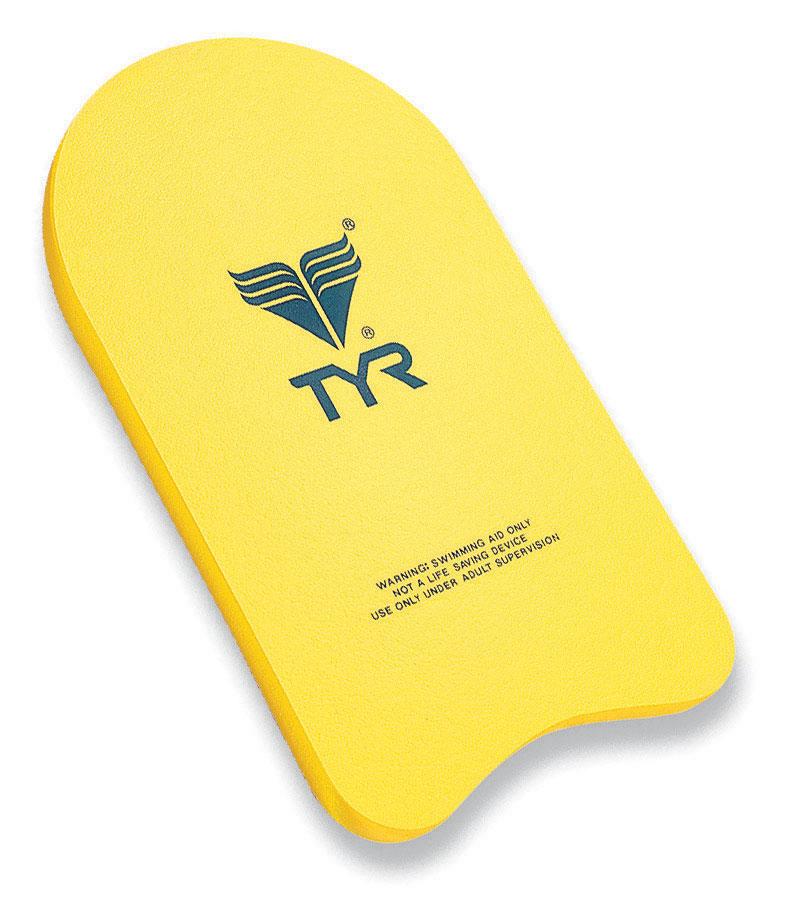 Доска для плавания Tyr Kickboard, цвет: желтый. LKB
