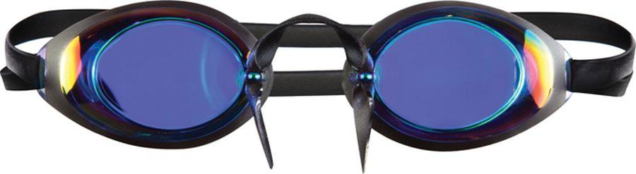 Очки для плавания Tyr Swedish Lo Pro Mirrored, цвет: голубой. LGLOPROMLGLOPROMСтартовые очки для плавания TYR Swedish Lo Pro с зеркальными линзами подходят для профессионалов и любителей. Тонкий и жесткий уплотнитель сохраняет все ценные свойства «шведок», при этом посадка становится более удобной по сравнению с традиционными «стекляшками», так как оправа не врезается в кожу. Линзы с зеркальным эффектом защищают глаза от воздействия ультрафиолетовых лучей и позволяют плавать в очках под открытым солнцем и ярким освещением. Двойной ремешок гарантирует надежную фиксацию на лице. Два варианта носовой дужки (каучуковый жгут и капроновая нить) позволяют подстроить очки под любой тип лица. Линзы обработаны раствором антифог.