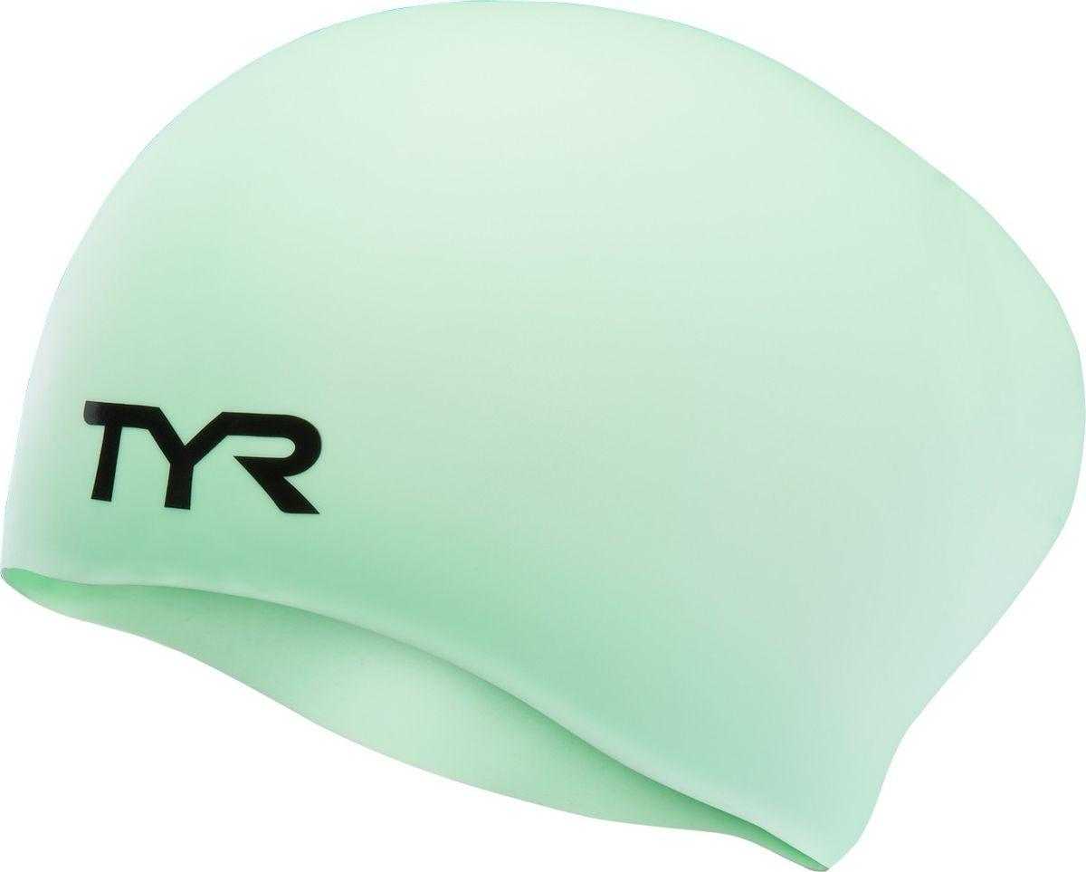 Шапочка для плавания Tyr Long Hair Wrinkle-Free Silicone Cap, цвет: ментоловый. LCSLLCSLСиликоновая шапочка TYR Long Hair Wrinkle Free – изготовлена из высококачественного материала устойчивого к воздействию хлорированной воды, что гарантирует долгий срок службы. Материал шапочки не вызывает раздражения кожи и других аллергических реакций. Ассиметричный дизайн шапочки специально разработан для людей с длинными волосами (они не будут зажиматься или стягиваться, их можно аккуратно убрать назад). Прекрасный вариант для тренировок в бассейне.