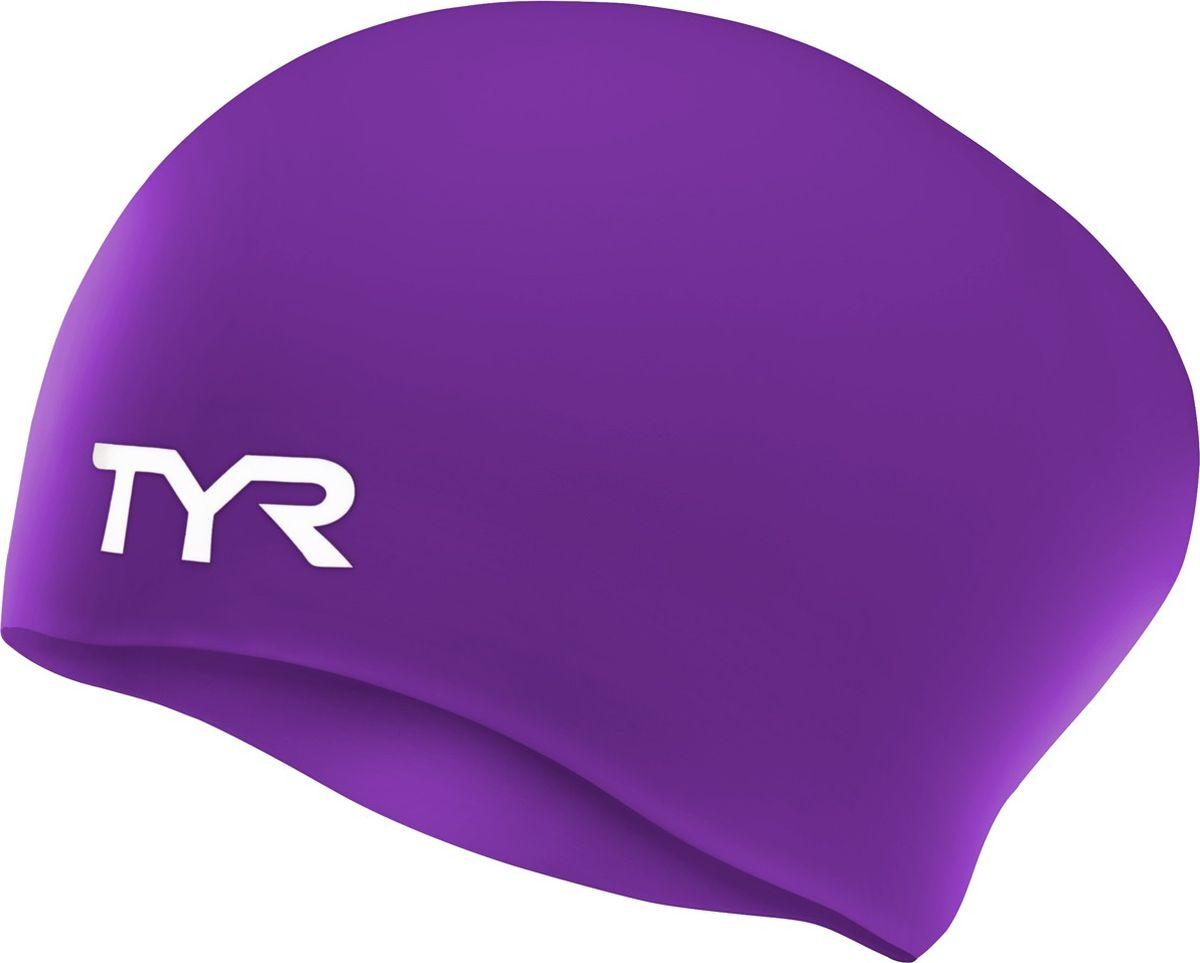 Шапочка для плавания Tyr Long Hair Wrinkle-Free Silicone Cap, цвет: фиолетовый. LCSLLCSLСиликоновая шапочка TYR Long Hair Wrinkle Free – изготовлена из высококачественного материала устойчивого к воздействию хлорированной воды, что гарантирует долгий срок службы. Материал шапочки не вызывает раздражения кожи и других аллергических реакций. Ассиметричный дизайн шапочки специально разработан для людей с длинными волосами (они не будут зажиматься или стягиваться, их можно аккуратно убрать назад). Прекрасный вариант для тренировок в бассейне.