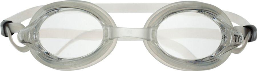 Очки для плавания Tyr Velocity, цвет: прозрачный. LGVLGVСтартовые очки для плавания Tyr Velocity подходят для профессионалов и любителей. Низкопрофильная и обтекаемая форма линз способствует отличной гидродинамике, что позволит спортсмену развить максимальную скорость в воде. Мягкий силиконовый уплотнитель способствует комфортной посадке очков для плавания. Двойной силиконовый ремешок и 3 варианта вставки переносицы дает возможность максимально удобно настроить очки. Линзы защищают глаза от воздействия ультрафиолетовых лучей и обработаны раствором антифог.