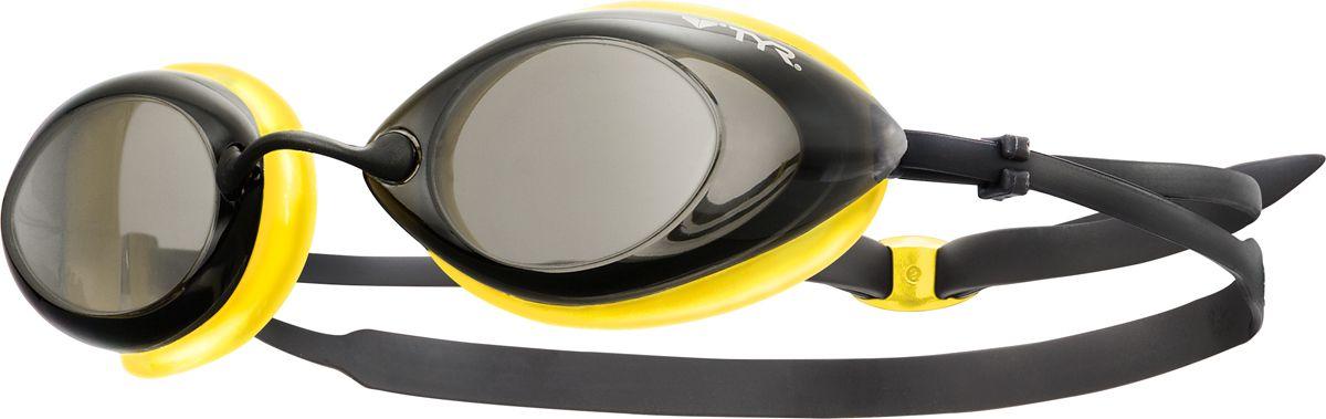 Очки для плавания Tyr Tracer Racing, цвет: черный, светло-желтый. LGTRLGTRСтартовые очки для плавания Tyr Tracer Racing подходят для профессионалов и любителей. Преимущество этих очков заключается в разделенных линзах, которые обеспечивают расширенный фронтальный обзор. Уплотнитель из специального мягкого силикона обеспечивает комфорт, герметичность, а низкопрофильные линзы способствуют лучшей гидродинамике. В комплект входят четыре сменные носовые дужки для идеальной подгонки очков. Двойной резиновый ремешок дает возможность максимально удобно настроить очки. Линзы защищают глаза от воздействия ультрафиолетовых лучей и обработаны раствором антифог.