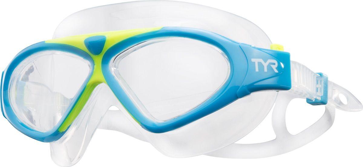 Маска для плавания Tyr Magna Swim Mask, цвет: голубой, желтый. LGMSMALGMSMAМаска TYR Magna Swim Mask отлично подойдет как для занятий спортом и отдыхом на открытой воде, так и для тренировок в бассейне. Широкие линзы обеспечивают четкий обзор под водой и защитят от ультрафиолетовых лучей. Уплотнитель и ремешок изготовленные из силикона, обеспечивают комфортную и удобную посадку маски. Легкая настройка маски позволит подобрать нужный вам размер.