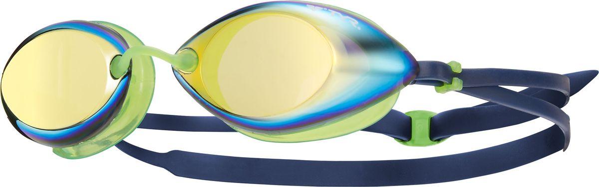 Очки для плавания Tyr Tracer Racing Mirrored, цвет: золотой, зеленый, синий. LGTRMLGTRMСтартовые очки для плавания TYR Tracer Racing с зеркальными линзами подходят для профессионалов и любителей. Преимущество этик очков заключается в разделенных линзах, которые обеспечивают расширенный фронтальный обзор. Уплотнитель из специального мягкого силикона обеспечивает комфорт, герметичность, а низкопрофильные линзы способствуют лучшей гидродинамике. В комплект входят четыре сменных носовых дужек для идеальной подгонки очков. Двойной резиновый ремешок дает возможность максимально удобно настроить очки. Линзы защищают глаза от воздействия ультрафиолетовых лучей и обработаны раствором антифог.