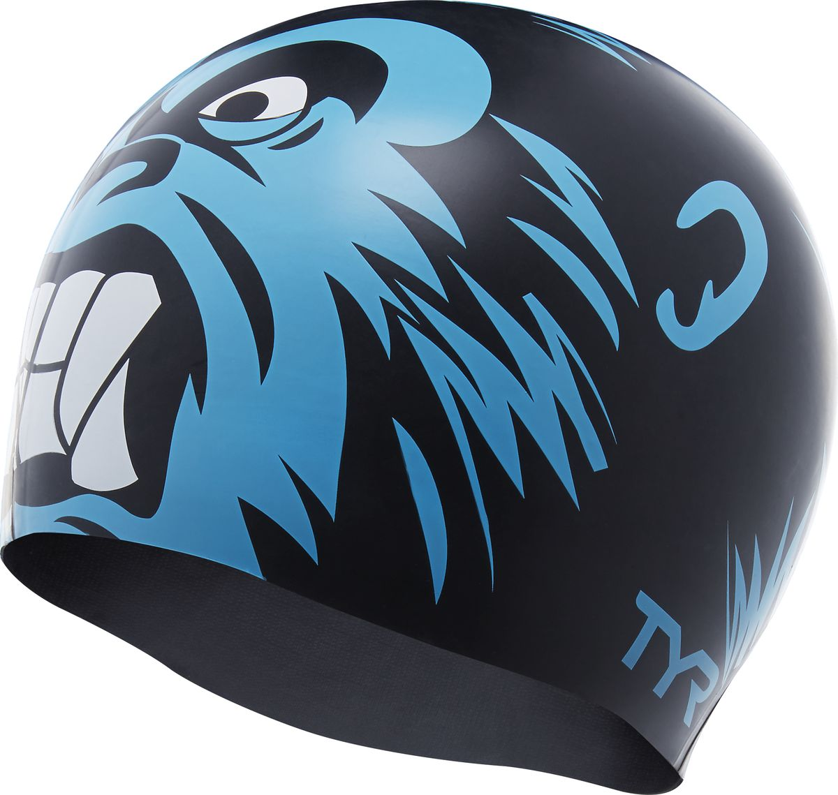 Шапочка для плавания Tyr Gorilla King Swim Cap, цвет: голубой, черный. LCSKNG кольца tyr dive rings цвет ассорти lstsrng