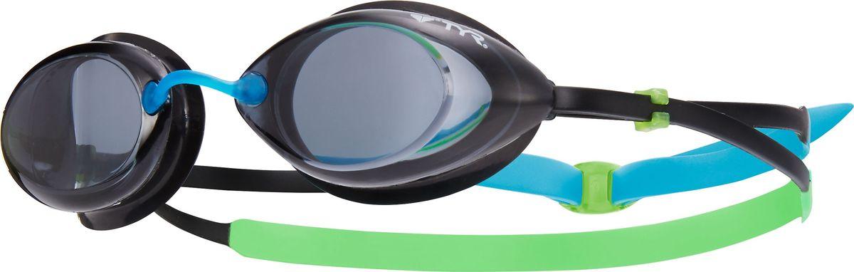 Очки для плавания Tyr Tracer Junior Racing, цвет: дымчатый, зеленый, голубой. LGTRYLGTRYДетские стартовые очки для плавания TYR Tracer Racing подходят для профессионалов и любителей. Преимущество этик очков заключается в разделенных линзах, которые обеспечивают расширенный фронтальный обзор. Уплотнитель из специального мягкого силикона обеспечивает комфорт, герметичность, а низкопрофильные линзы способствуют лучшей гидродинамике. В комплект входят четыре сменных носовых дужек для идеальной подгонки очков. Двойной резиновый ремешок дает возможность максимально удобно настроить очки. Линзы защищают глаза от воздействия ультрафиолетовых лучей и обработаны раствором антифог.