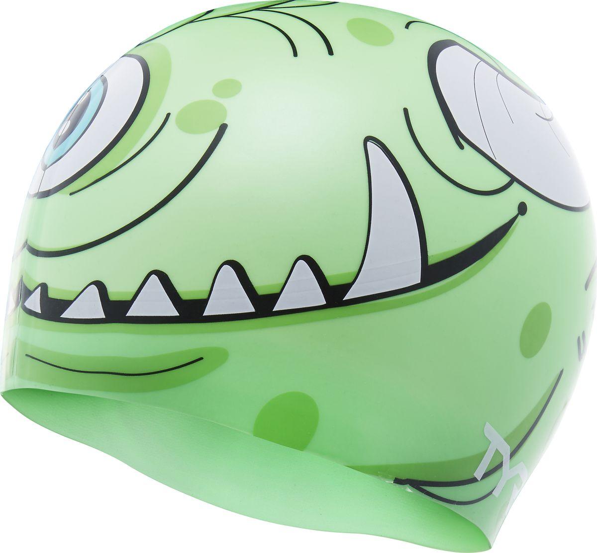 Шапочка для плавания Tyr Monster Swim Cap, цвет: зеленый. LCSMNSTRLCSMNSTRСиликоновая шапочка TYR с принтом изготовлена из высококачественного материала, устойчивого к воздействию хлорированной воды, что гарантирует долгий срок службы. Материал шапочки не вызывает раздражения кожи и других аллергических реакций. Прекрасный вариант для тренировок в бассейне.