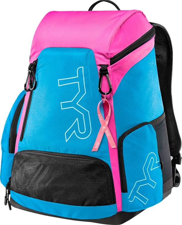 Рюкзак Tyr Alliance 30L Backpack PINK (BCRF), цвет: голубой, розовый. LATBP30BLATBP30BРюкзак TYR Alliance 30L Backpack – новая версия рюкзака Alliance Team Mini Backpack с более современным дизайном и увеличенным рабочим пространством. Рюкзак сконструирован для пловцов: есть отделение для влажных и сухих вещей, имеются передние и боковые карманы, защитное пространство для крупной электроники, регулируемые ремни, 2 карабина-крючка для подвешивания вещей или сеток.Рюкзак разработан с использованием технологичных тканей, чтобы обеспечить легкость, прочность и водостойкость.
