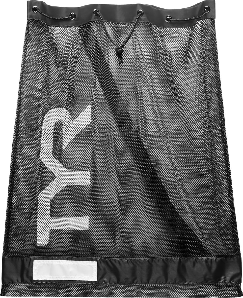 Мешок для аксессуаров Tyr Swim Gear Bag, цвет: черный. LBD2LBD2Стильный и удобный мешок отлично подойдет для спортивного инвентаря, например: доска для плавания, большое полотенце, шапочка, ласты, очки, купальник, сланцы и многое другое. Мешок имеет два шнура для затягивания и удобного ношения. Мешок TYR сделан из прочной сетчатой ткани и за счет этого ваша влажная экипировка быстро высохнет.