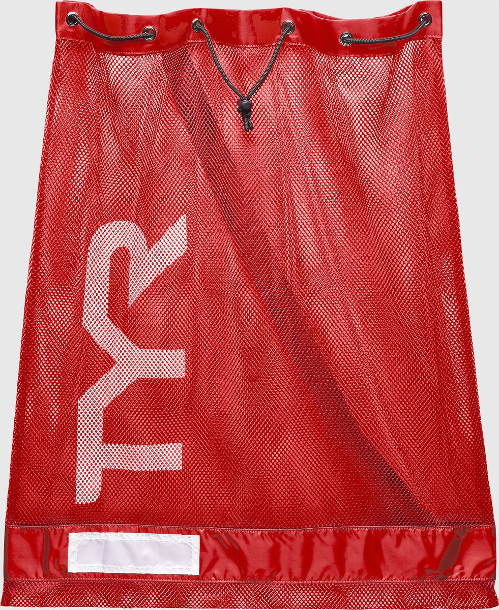Мешок для аксессуаров Tyr Swim Gear Bag, цвет: красный. LBD2LBD2Стильный и удобный мешок отлично подойдет для спортивного инвентаря, например: доска для плавания, большое полотенце, шапочка, ласты, очки, купальник, сланцы и многое другое. Мешок имеет два шнура для затягивания и удобного ношения. Мешок TYR сделан из прочной сетчатой ткани и за счет этого ваша влажная экипировка быстро высохнет.