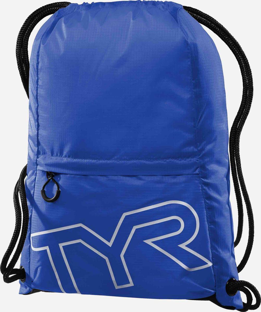 Рюкзак-мешок Tyr Drawstring Backpack, цвет: синий. LPSO2LPSO2Рюкзак-мешок TYR Drawstring Backpack идеально подойдет для походов в бассейн. Рюкзак изготовлен из технологичных тканей, чтобы обеспечить легкость и прочность, легко закрывается при помощи шнура, снаружи имеется карман на молнии.