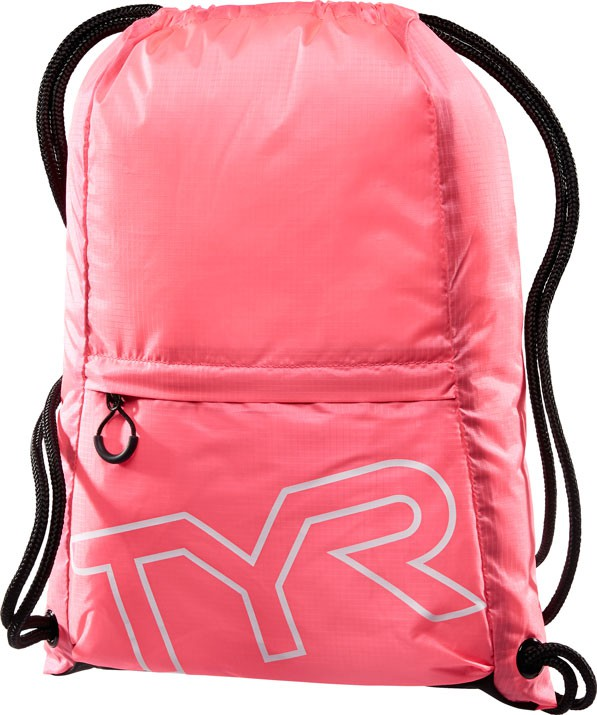 Рюкзак-мешок Tyr Drawstring Backpack, цвет: розовый. LPSO2LPSO2Рюкзак-мешок TYR Drawstring Backpack идеально подойдет для походов в бассейн. Рюкзак изготовлен из технологичных тканей, чтобы обеспечить легкость и прочность, легко закрывается при помощи шнура, снаружи имеется карман на молнии.