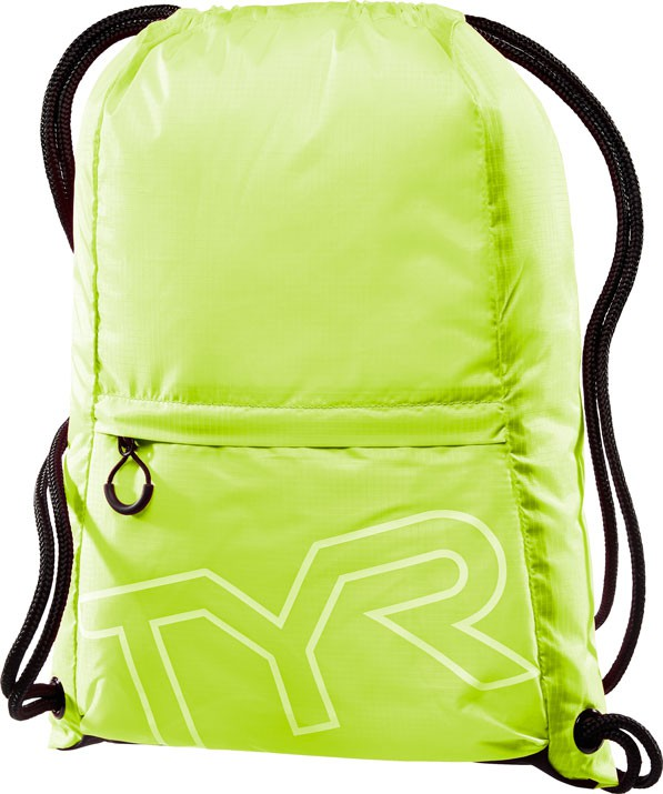 Рюкзак-мешок Tyr Drawstring Backpack, цвет: светло-желтый. LPSO2LPSO2Рюкзак-мешок TYR Drawstring Backpack идеально подойдет для походов в бассейн. Рюкзак изготовлен из технологичных тканей, чтобы обеспечить легкость и прочность, легко закрывается при помощи шнура, снаружи имеется карман на молнии.