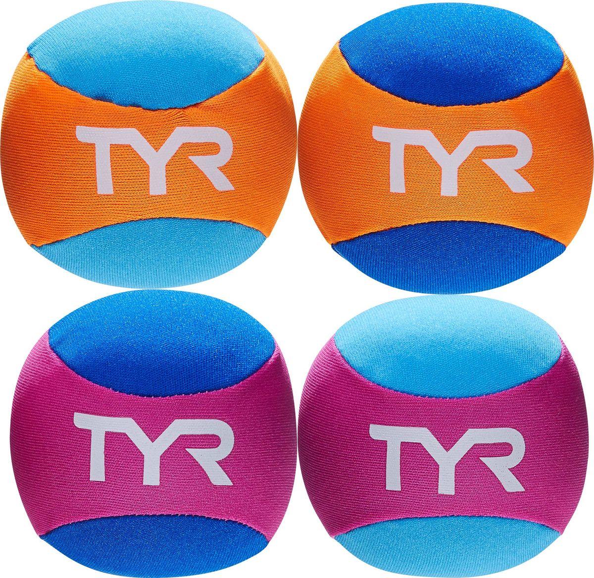 Мяч Tyr Kids Pool Balls, цвет: мультиколор, 4 шт. LSTSBLSLSTSBLSКаждый продукт Start to Swim предназначен для помощи детям на самых ранних этапах плавания. Мячики TYR идеально подходят для игры в бассейне и на пляже. Просто позвольте шарам впитать воду, а затем бросьте их. Комплект включает в себя 4 красочных мячика.