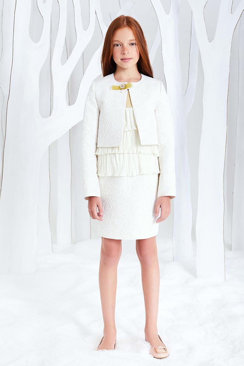 Юбка для девочки Смена, цвет: молочный. 16с234. Размер 158/164 юбка для девочки смена цвет серый 16с728 gg размер 158 164