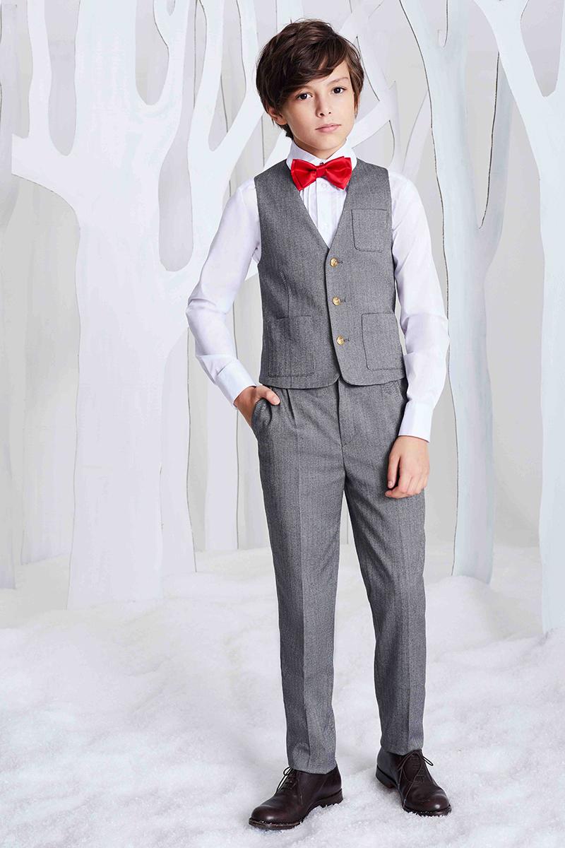 Жилет для мальчика Смена, цвет: серый. 16с243. Размер 158/164 пиджак для мальчика смена цвет серый 16с263 размер 158 164