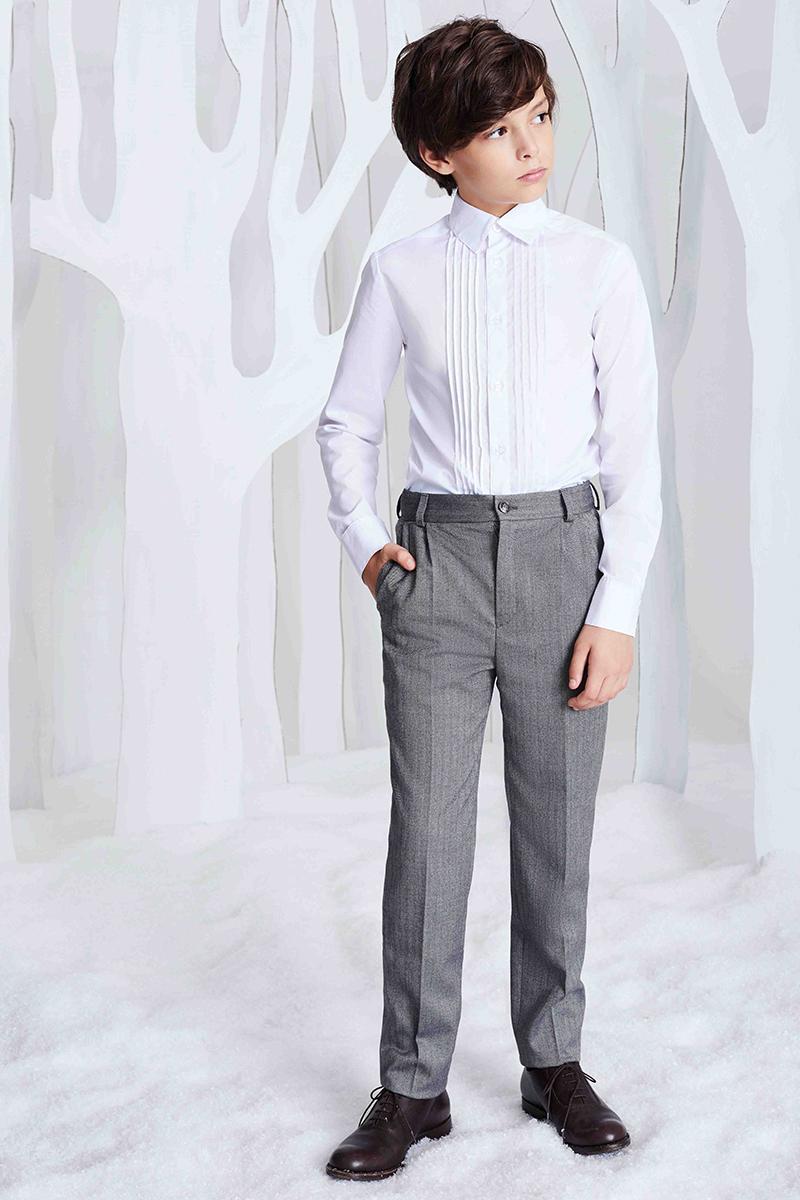 Брюки для мальчика Смена, цвет: серый. 16с253. Размер 158/164 пиджак для мальчика смена цвет серый 16с263 размер 158 164