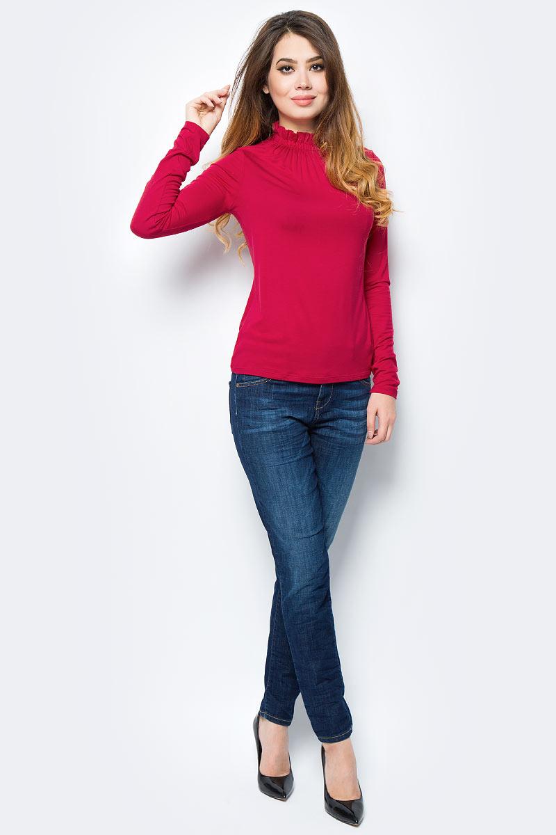 Джемпер женский United Colors of Benetton, цвет: красный. 3A2GE1L81_07C. Размер S (42/44)3A2GE1L81_07CДжемпер женский United Colors of Benetton выполнен из качественного материала. Модель с воротником стойкой и длинными рукавами.