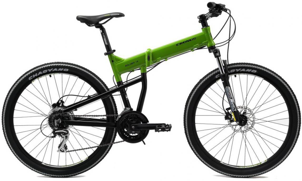 Велосипед складной Cronus Soldier 1.5 2014, цвет: зеленый, рама 17,5, колесо 26112168