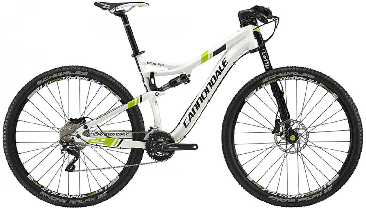Велосипед горный Cannondale Scalpel 4 2015, двухподвесный, цвет: белый, рама 16, колесо 29207842