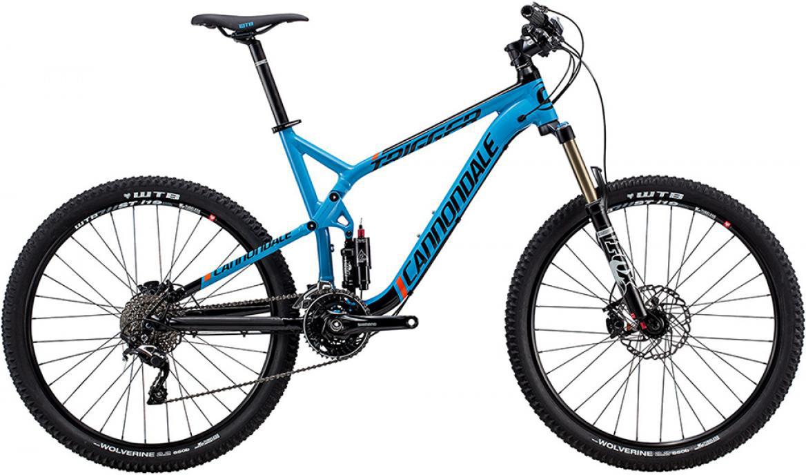 Велосипед горный Cannondale Trigger Alloy 4 2015, двухподвесный, цвет: синий, рама 16, колесо 27,5207858